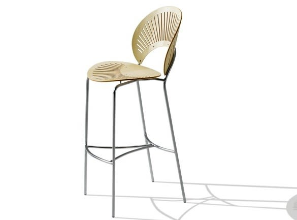 Lacquered Beech, Chrome,Fredericia,Stools,bar stool,chair,furniture,line