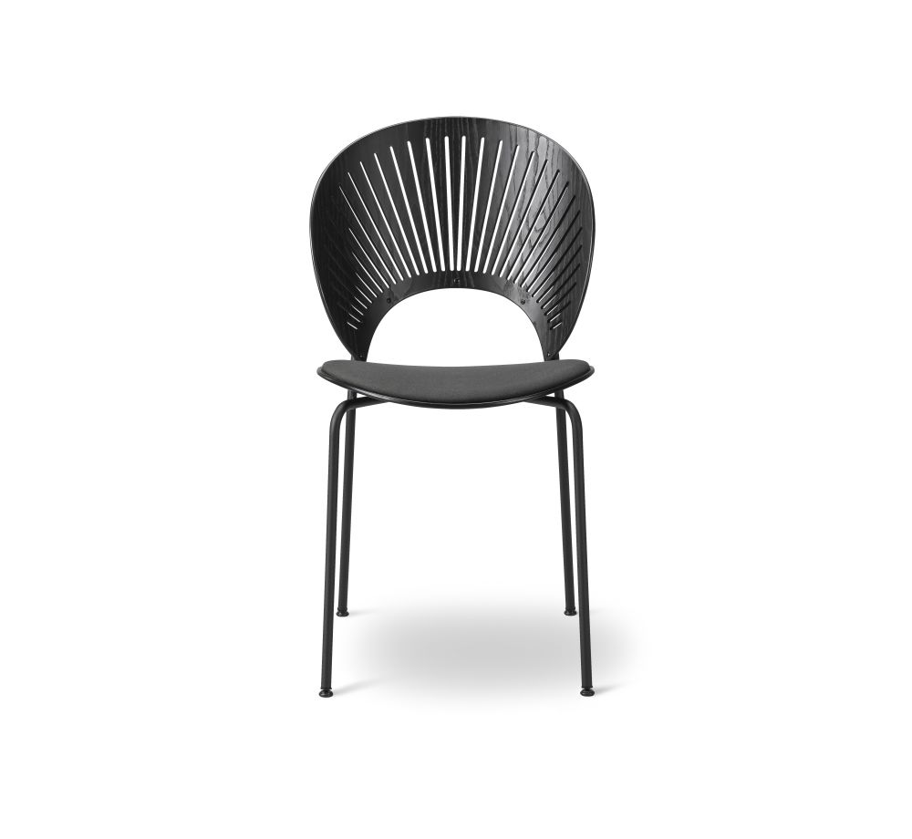 Lacquered Beech, Remix 2 113, Chrome,Fredericia,Dining Chairs,chair,furniture,line