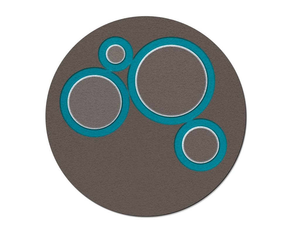 Mud Base and Turquoise and White Drawing,Cappellini,Textiles,circle,teal,turquoise