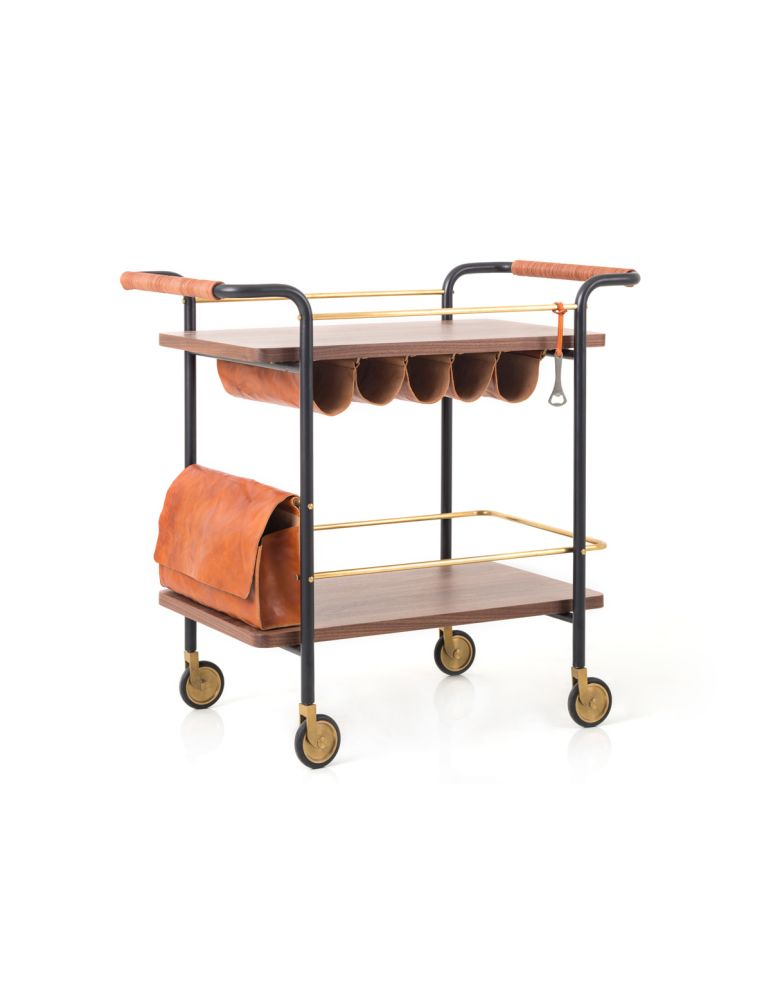 Wood Natural Walnut,Stellar Works,Trolleys,furniture,kitchen cart,product,table