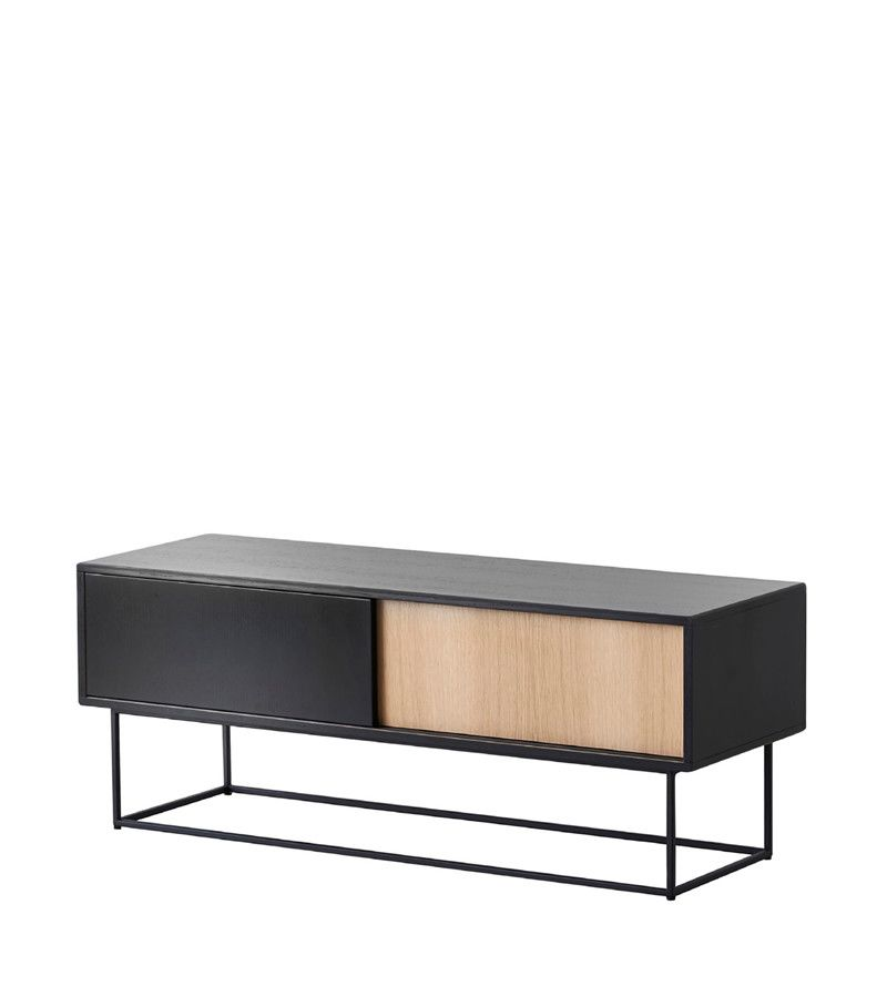 Black painted oak, low,WOUD,Cabinets & Sideboards,coffee table,furniture,rectangle,sofa tables,table