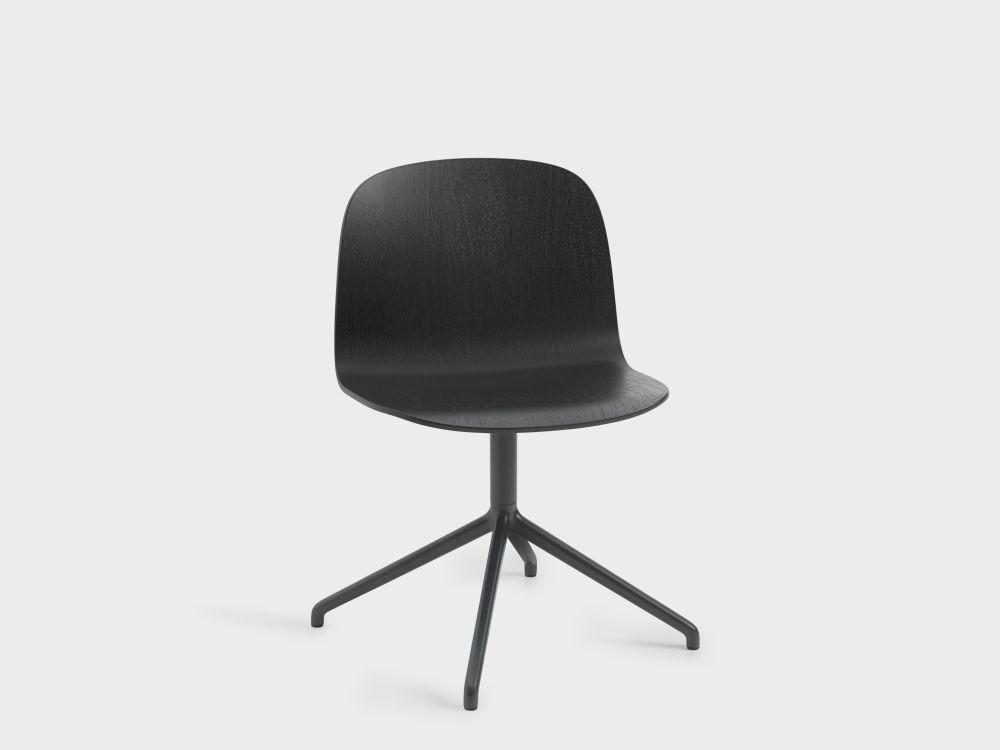 Oak/Black,Muuto,Seating,chair,furniture,office chair,product