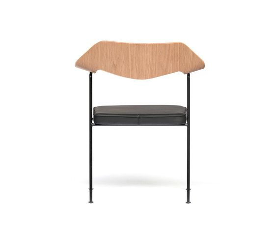 675 chair oak and black by Case Furniture by Case Furniture