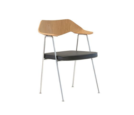 675 chair oak and chrome by Case Furniture by Case Furniture