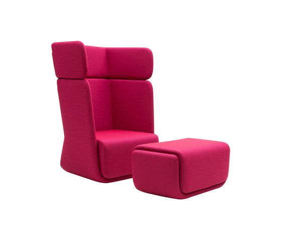 Basket chair with footrest by Softline A/S by Softline A/S