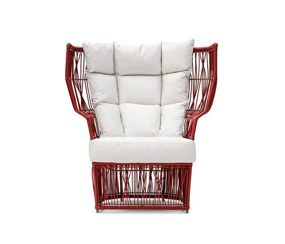 Calyx Easy Armchair high back by Kenneth Cobonpue by Kenneth Cobonpue