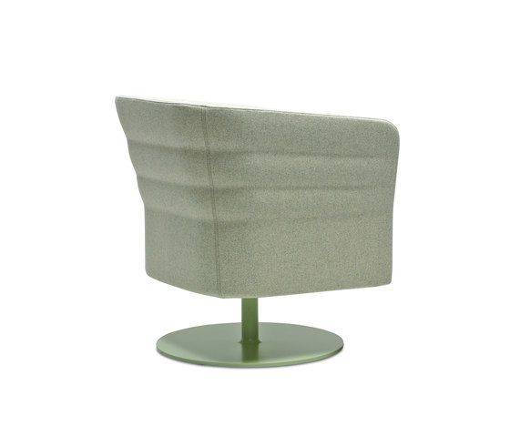 Cell 72 swivel upholstered easy chair with armrests by SitLand by SitLand
