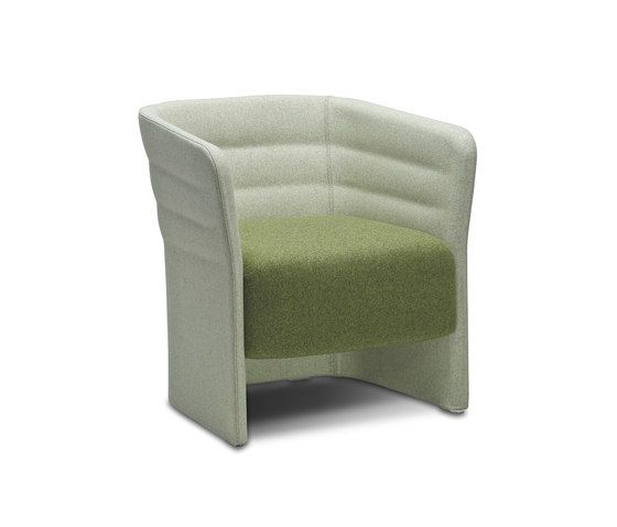 Cell 72 upholstered easy chair with armrests by SitLand by SitLand