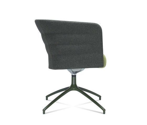 Cell 75 swivel upholstered easy chair with armrests by SitLand by SitLand