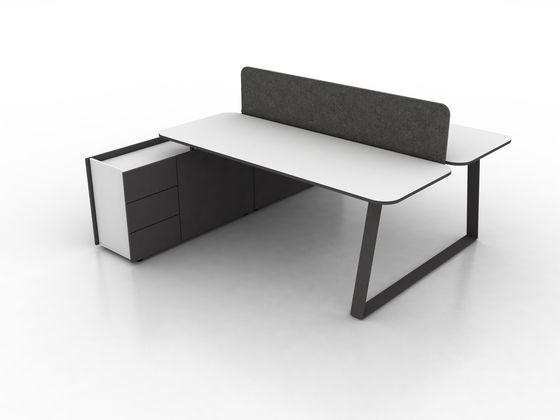 Coach Double office desk by Ergolain by Ergolain