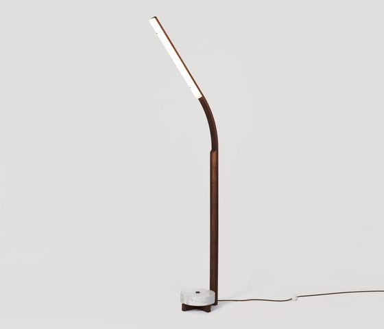 Counterweight Floor lamp walnut by Fort Standard by Fort Standard