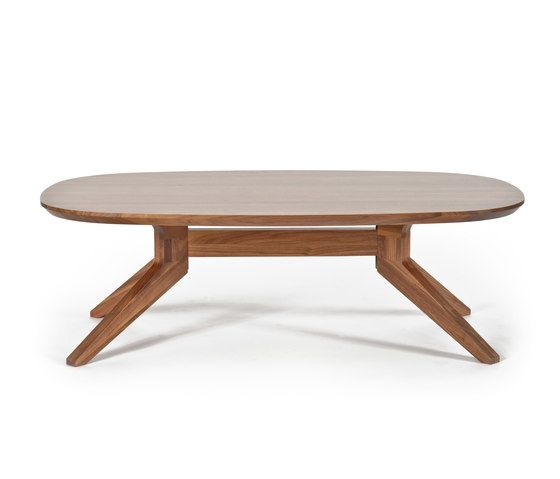 Cross oval coffee table by Case Furniture by Case Furniture