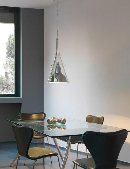 Flûte   Flûte Magnum Suspension lamp by FontanaArte by FontanaArte