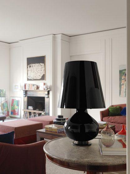 Fontana Total Black Table lamp big by FontanaArte by FontanaArte