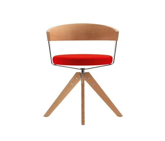 G 125 Four-legged swivel chair by Girsberger by Girsberger
