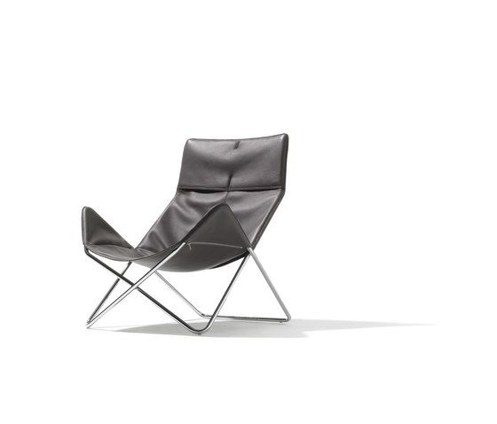 In-Out lounge chair leather by Lampert by Lampert