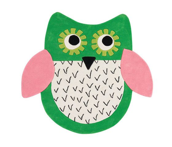 Kids Rugs - Little Owl Emerald by Designers Guild by Designers Guild