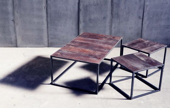 Mesa Leather coffee table by Heerenhuis by Heerenhuis