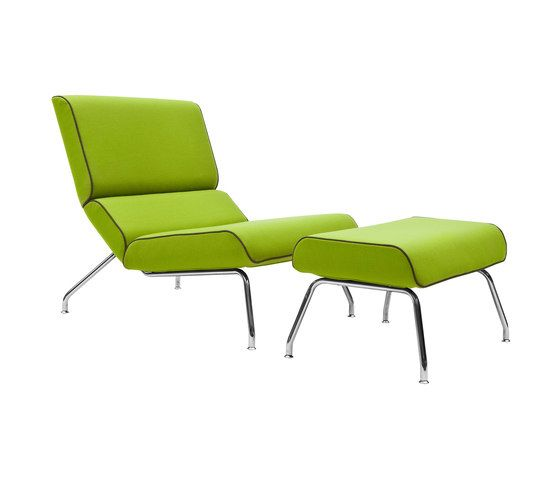 Milo lounge chair with footstool by Softline A/S by Softline A/S
