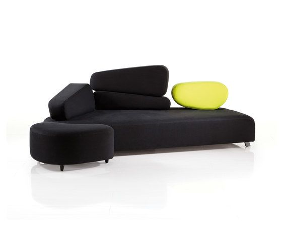 mosspink Seatingscape with stool by Brühl by Brühl