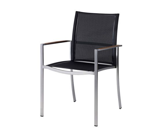 Nero Stacking Chair With Arms by Akula Living by Akula Living