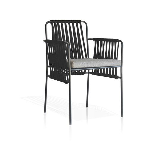 Nido Hand-woven dining armchair by Expormim by Expormim