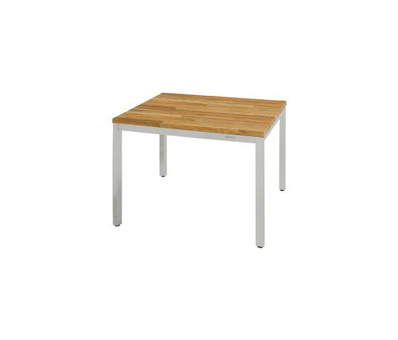 Oko dining table 90 x 90 cm (post legs - random) by Mamagreen by Mamagreen