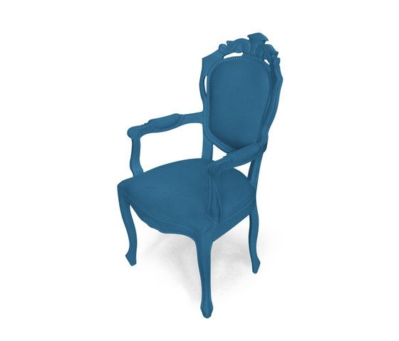 Plastic Fantastic dining chair armchair evening blue by JSPR by JSPR