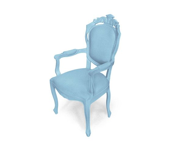 Plastic Fantastic dining chair armchair ice blue by JSPR by JSPR