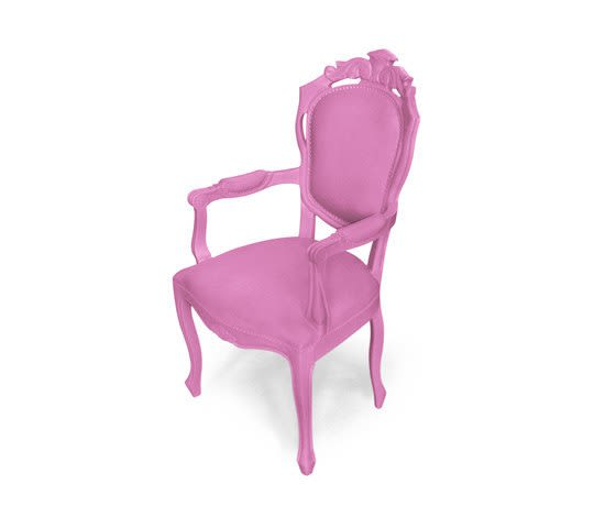 Plastic Fantastic dining chair armchair pink by JSPR by JSPR