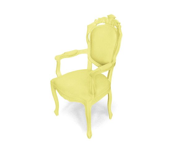 Plastic Fantastic dining chair armchair yellow by JSPR by JSPR