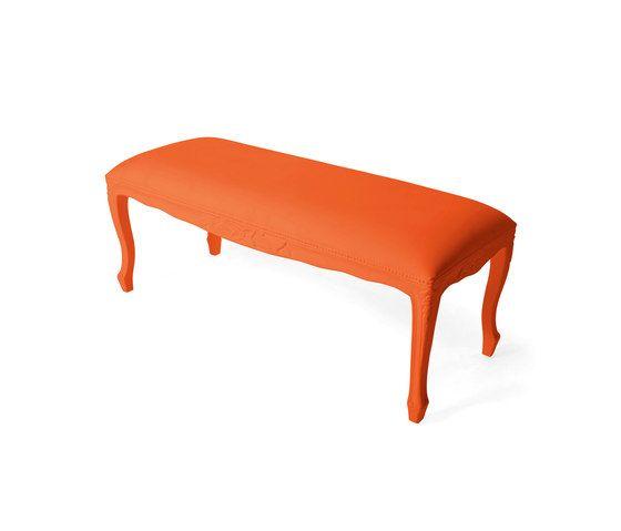Plastic Fantastic large bench orange by JSPR by JSPR