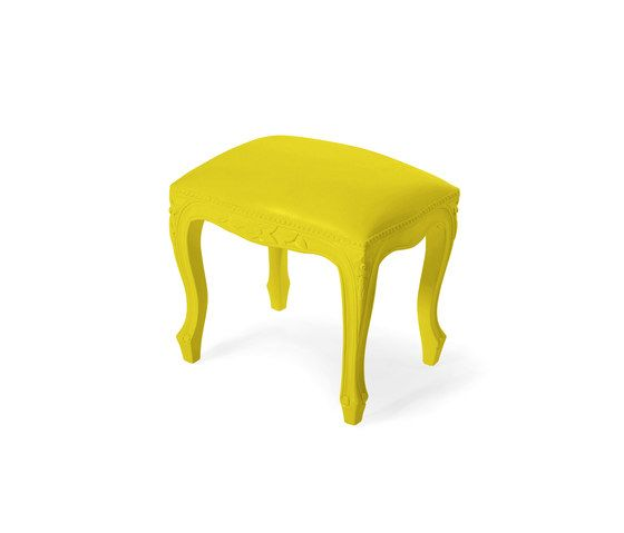 Plastic Fantastic small bench yellow by JSPR by JSPR