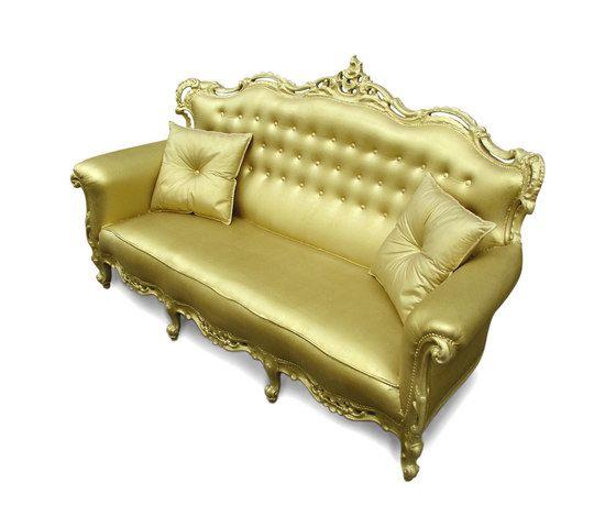 Plastic Fantastic sofa gold by JSPR by JSPR