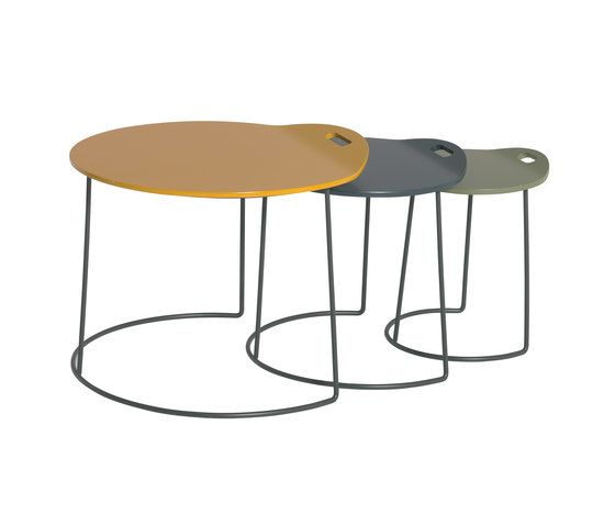 Pompaples 3 nesting tables by Atelier Pfister by Atelier Pfister