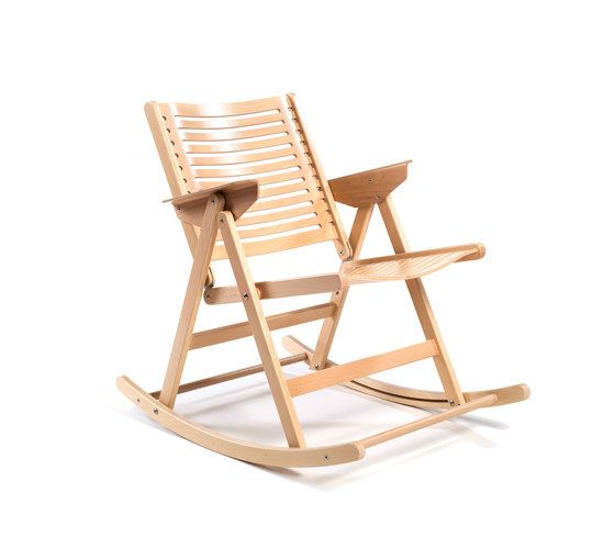 Rex Rocking Chair beech natural by Rex Kralj by Rex Kralj