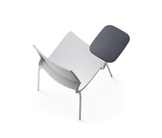 Ricciolina 4 legs with seat cushion + writing tablet by Maxdesign by Maxdesign