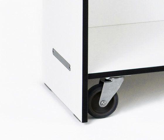 Rotondo shelf 80 x 125 with rolls by Conmoto by Conmoto