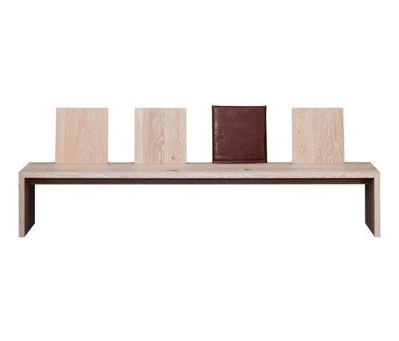 S 900 Gesellig Bench   Wood   Wood–HPL by Janua / Christian Seisenberger by Janua / Christian Seisenberger