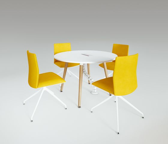 Scando Round conference table by Ergolain by Ergolain