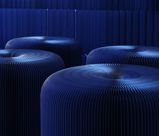 softseating | indigo blue paper softseating by molo by molo