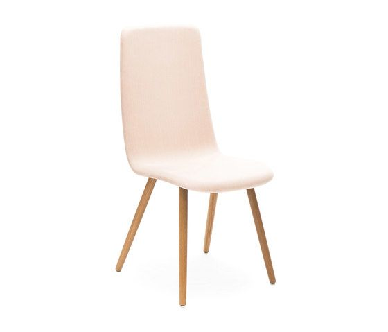 Sola conference chair with wooden four leg base high backrest by Martela Oyj by Martela Oyj