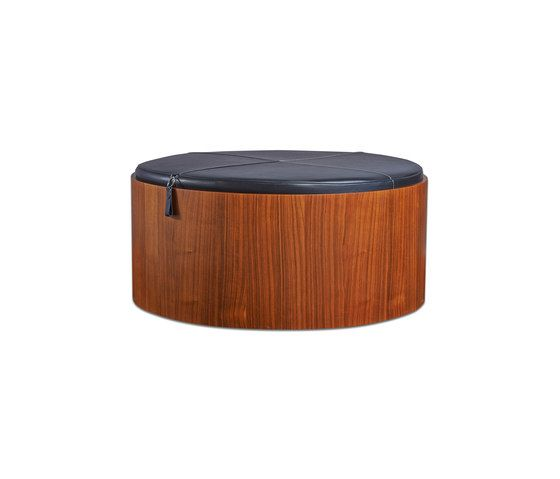 Stoll 90 – Walnut Stained with black calf leather cushion by Wildspirit by Wildspirit