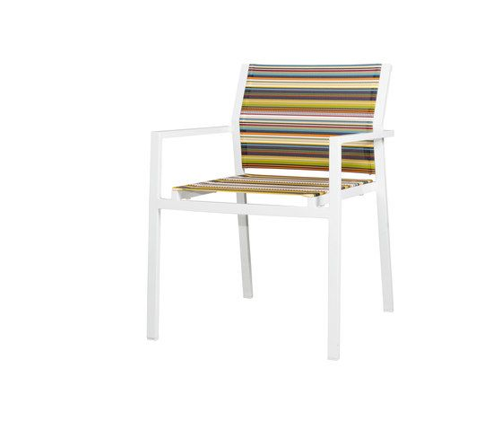 Stripe dining stackable armchair by Mamagreen by Mamagreen