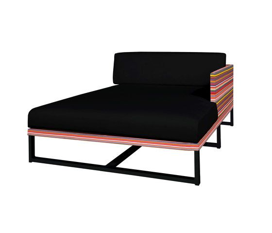 Stripe left chaise by Mamagreen by Mamagreen