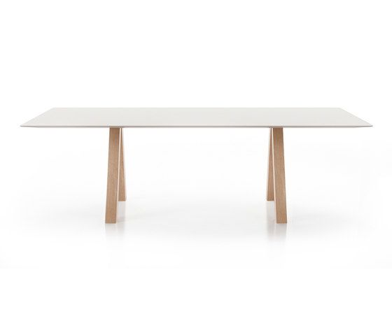 Trestle table by viccarbe by viccarbe
