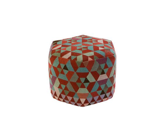 Triangles Pouf Trianglehex almond green high by GOLRAN 1898 by GOLRAN 1898