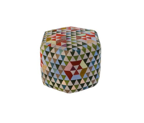 Triangles Pouf Trianglehex sweet green high by GOLRAN 1898 by GOLRAN 1898