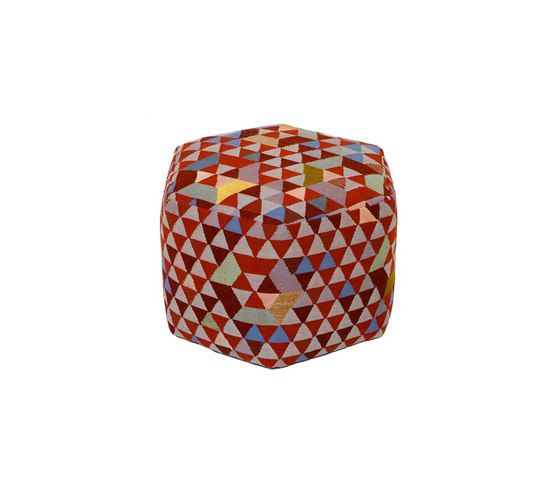 Triangles Pouf Trianglehex sweet pink high by GOLRAN 1898 by GOLRAN 1898