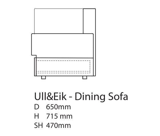 Ull & Eik Dinning Bench by Thorsønn by Thorsønn
